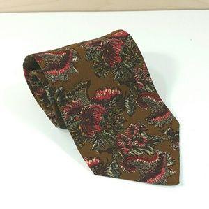 Valentino Cravatte Vintage Floral Abstract Tie